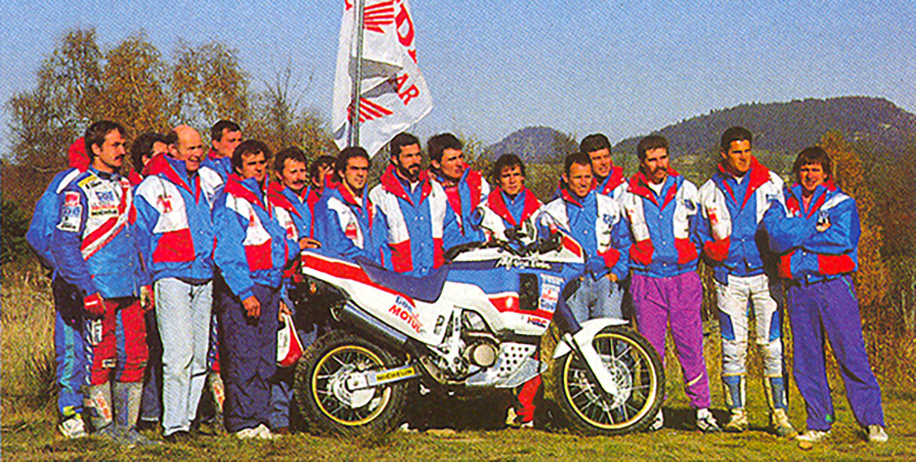 Honda's marathon team in 1990.
